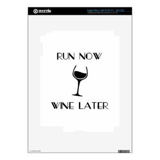 Run Now Wine Later iPad 3 Skins