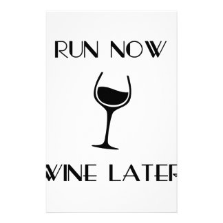 Run Now Wine Later Stationery
