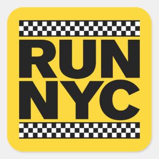 RUN NYC TAXI SQUARE STICKER