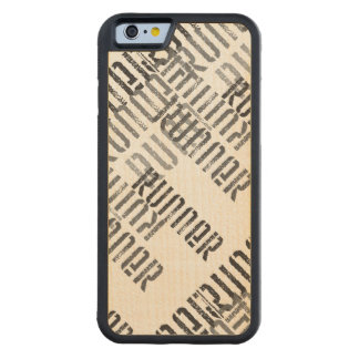 Run Off - Runners Carved® Maple iPhone 6 Bumper Case