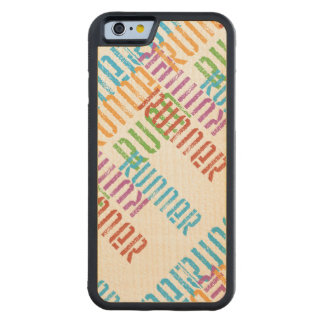 Run Off Variety - Colorful Running Carved® Maple iPhone 6 Bumper Case