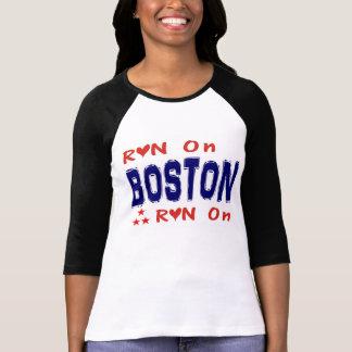 Run On Boston t-shirt