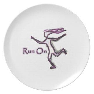 Run On Melamine Plate