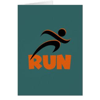 RUN Orange Card