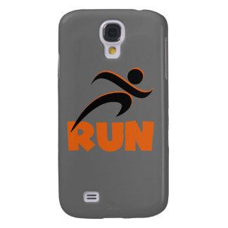 RUN Orange Samsung Galaxy S4 Covers