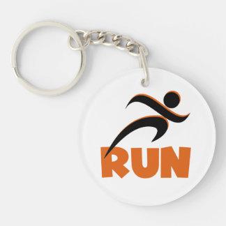 RUN Orange Keychain