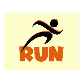 RUN Orange Postcard