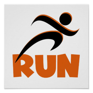 RUN Orange Posters