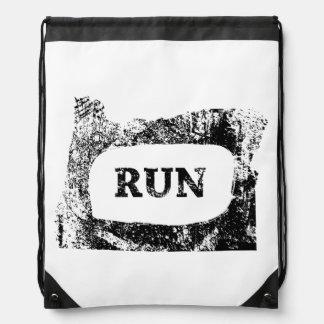 """RUN Oregon"" Drawstring Backpack"