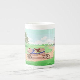 Run Pig Run Tea Cup