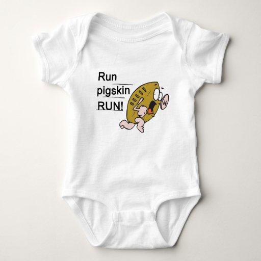 Run Pigskin Run Baby Bodysuit