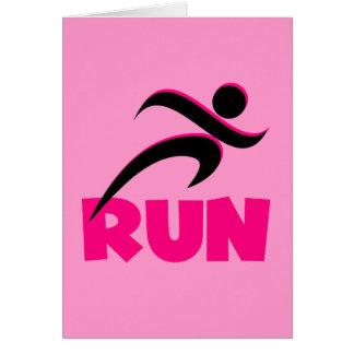 RUN Pink Card