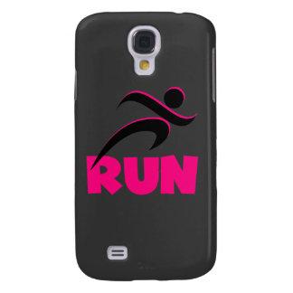 RUN Pink Galaxy S4 Cover
