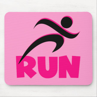 RUN Pink Mouse Pad