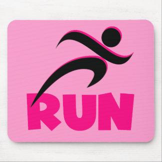 RUN Pink Mouse Pad