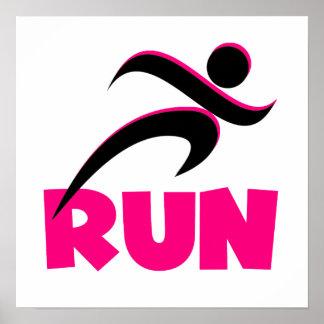 RUN Pink Poster