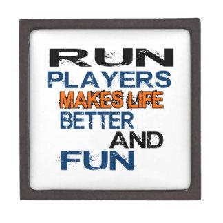 Run Players Makes Life Better And Fun Premium Jewelry Box