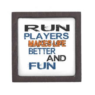 Run Players Makes Life Better And Fun Premium Keepsake Box