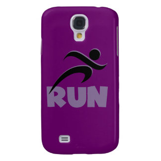 RUN Purple Galaxy S4 Covers