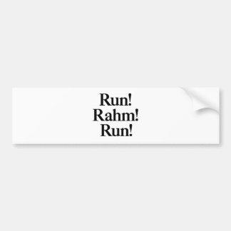 Run Rahm Run Bumper Sticker