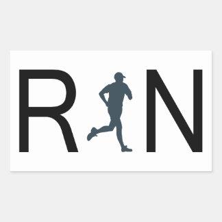 Run Rectangular Sticker