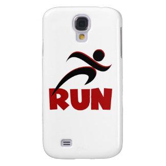 RUN Red Samsung Galaxy S4 Cases
