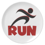 RUN Red Party Plate