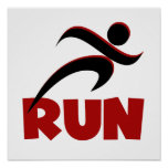 RUN Red Poster