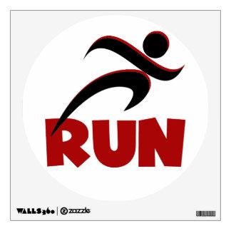 RUN Red Wall Sticker