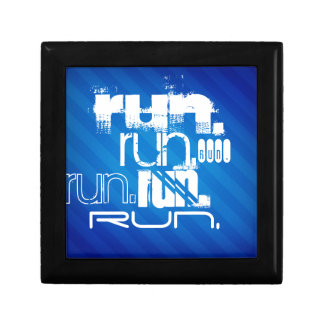 Run; Royal Blue Stripes Jewelry Boxes