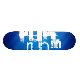 Run; Royal Blue Stripes Skate Deck