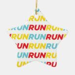 Run Run Run Christmas Tree Ornaments