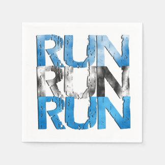 Run Run Run - Runner Standard Cocktail Napkin
