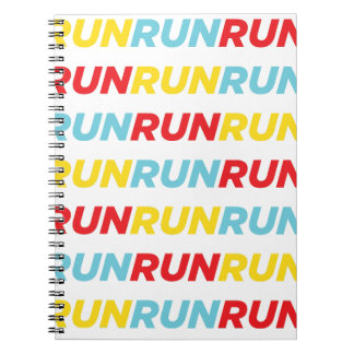 Run Run Run Spiral Notebook