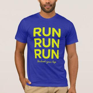Run Run Run (Unleash Your Legs) Yellow T-shirt