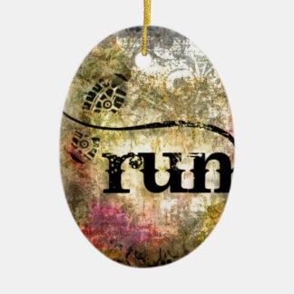 Run/Runner by Vetro Jewelry Ceramic Ornament