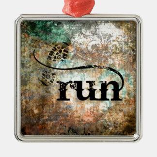 Run/Runner by Vetro Jewelry Metal Ornament