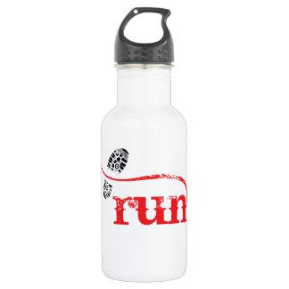 Run/Runner by Vetro Jewelry Stainless Steel Water Bottle