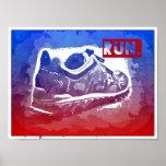 Run Running Shoe Fitness Exercise Poster Runners