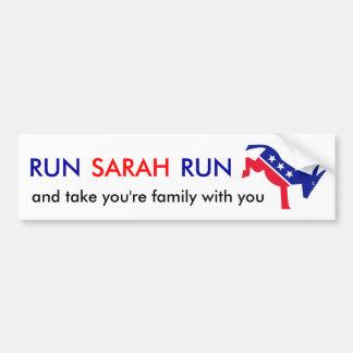 Run Sarah Run Bumper Sticker