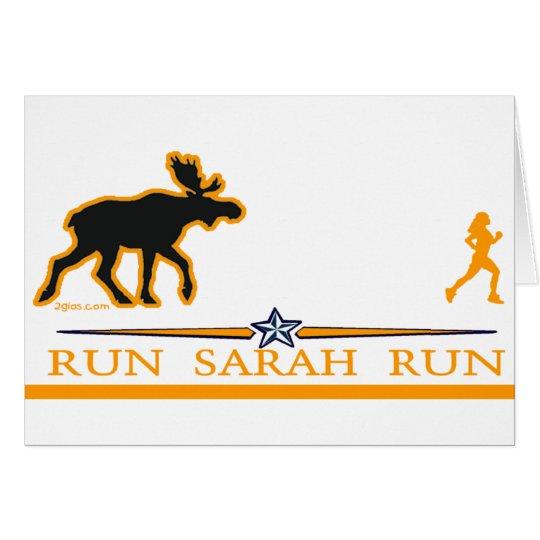 Run Sarah Run! Card
