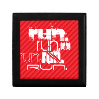 Run; Scarlet Red Stripes Jewelry Box