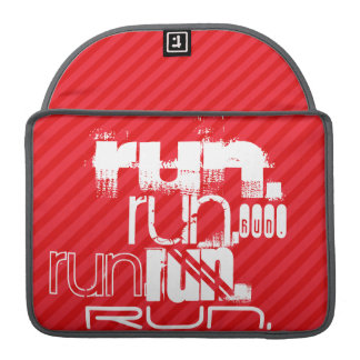 Run; Scarlet Red Stripes MacBook Pro Sleeve