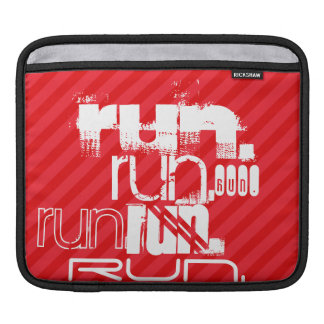 Run; Scarlet Red Stripes Sleeve For iPads