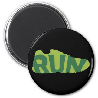 Run Shoe 2 Inch Round Magnet