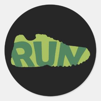 Run Shoe Classic Round Sticker