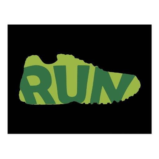 Run Shoe Postcard
