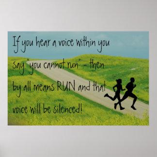 RUN - Silence the Voice  Inspirational CC POSTER