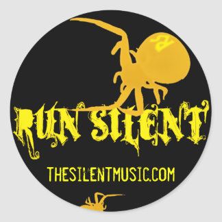 Run Silent Round Sticker