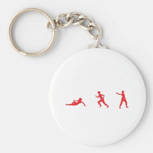 Run, Slide, Shoot Keychains